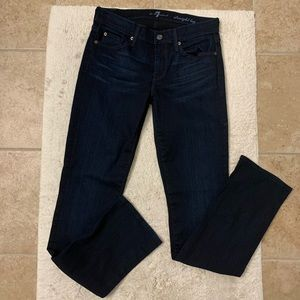 7 for all mankind straight leg jeans 29